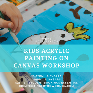 Keep the kids entertained these school holidays with  Tinker's Summer School Holiday Art Program.