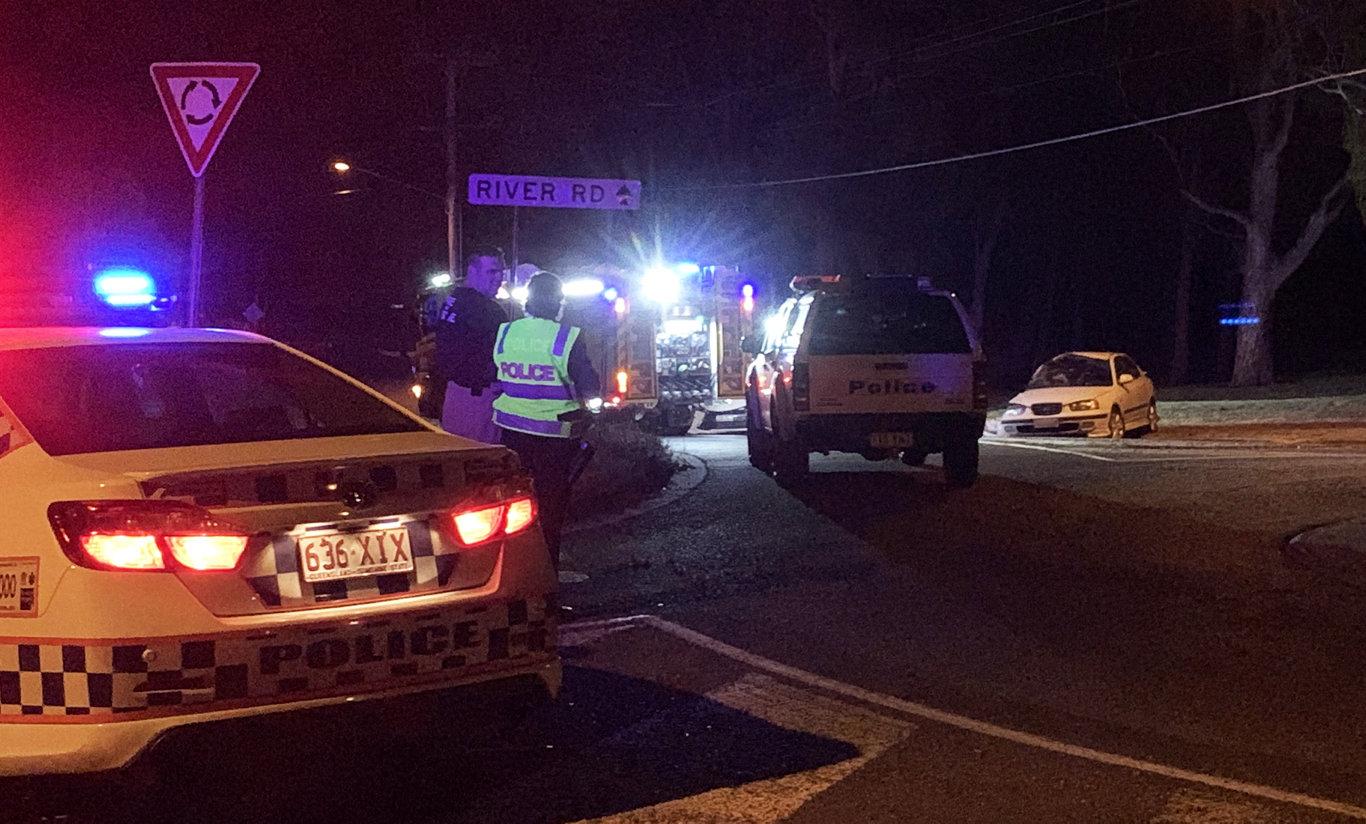 A fatal car crash on River Road in Bundamba on Sunday night.