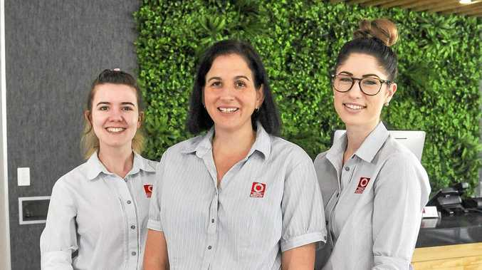 BETTER SERVICE: CQ Radiology operations manager for Gladstone and Biloela Susan Jochheim (middle) with Pippa Slator and Amy McLennan in the new CQ Radiology building.