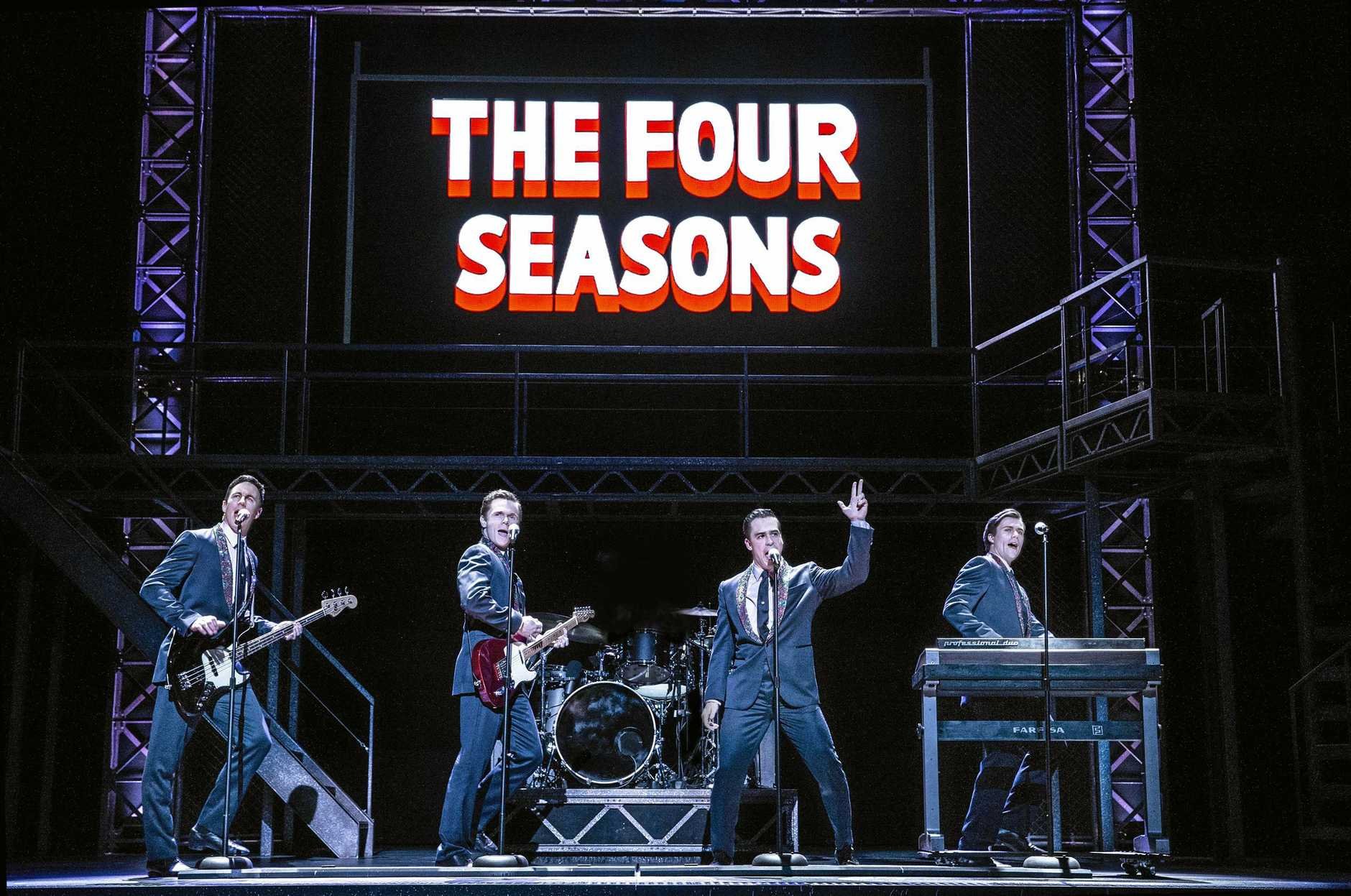 A HIT:  Jersey Boys  starring Glaston Toft returns in January 2019.