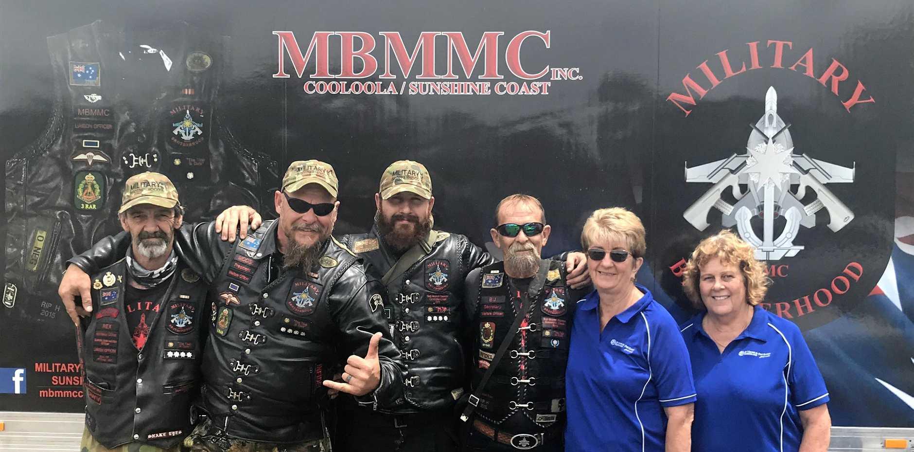 FROM LEFT: Military Brotherhood MMC Cooloola-Sunshine Coast sub branch members Rex Brenneke, Stephen