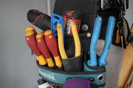 More than a dozen tools were taken.