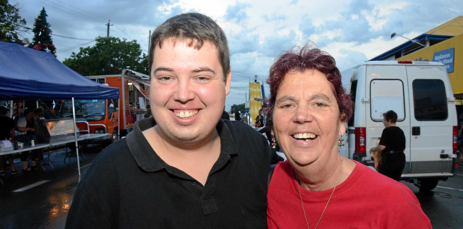 Pauline and Matthew Wallace at the Murgon Christmas Fair.