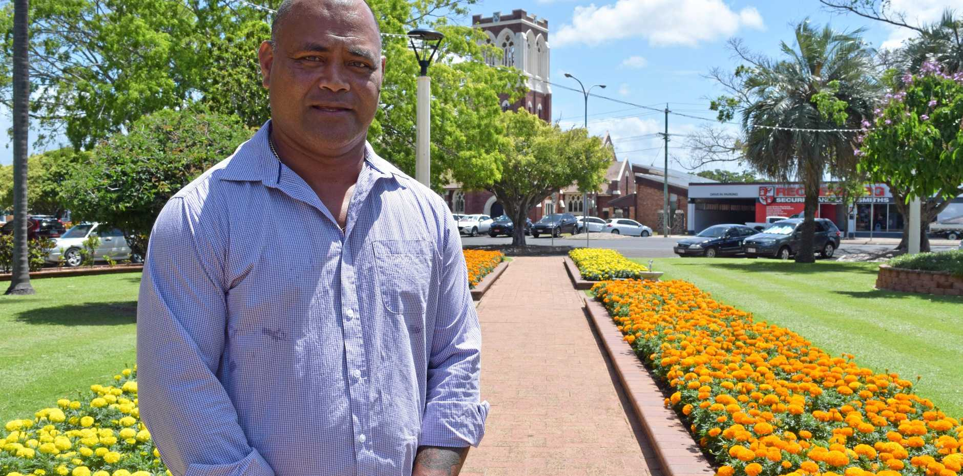 Moe Turaga has intentions to run as an independent candidate for Hinkler in the next federal election.
