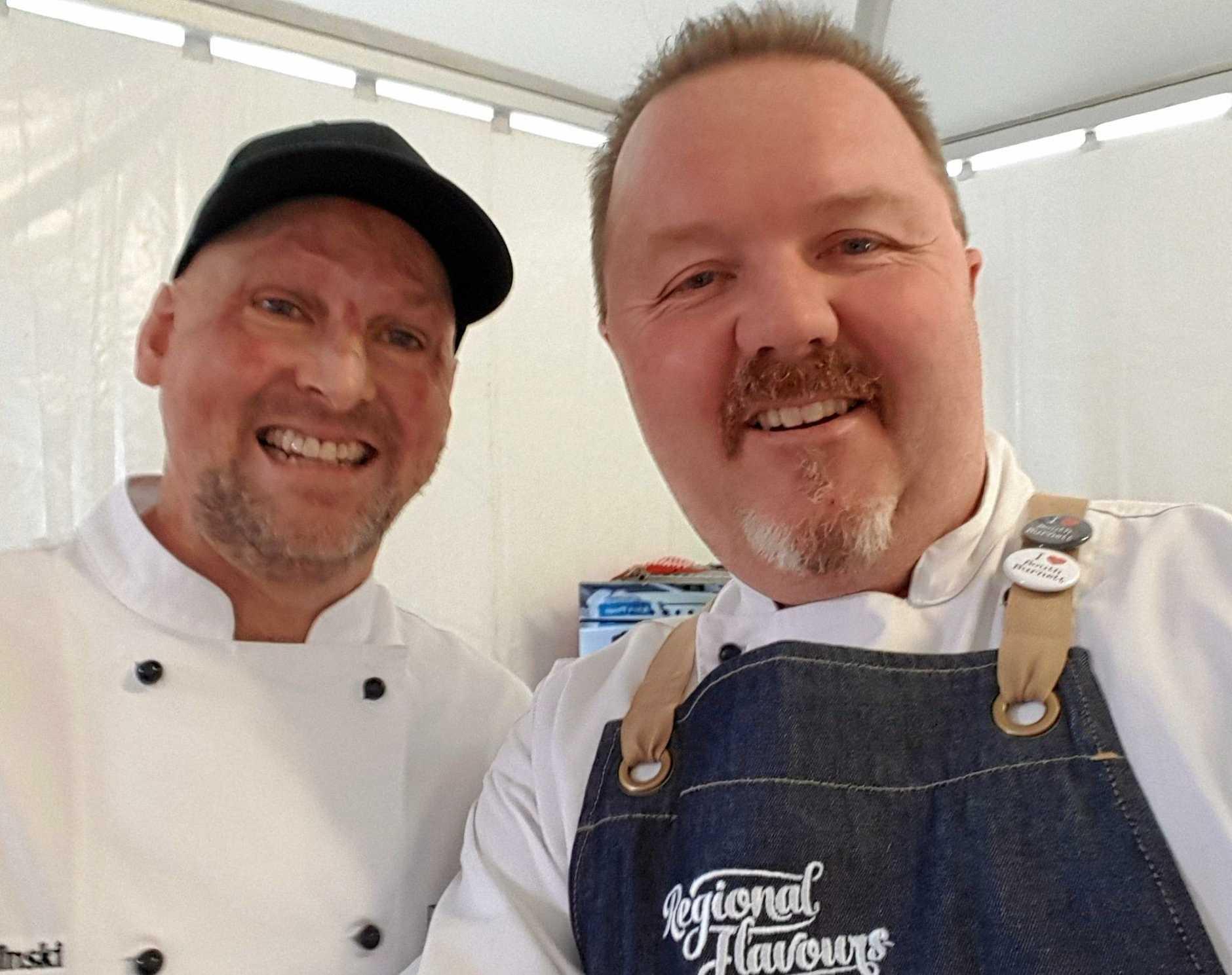 THE BEST: Gympie food ambassador, Matt Golinski and South Burnett food ambassador, Jason Ford praise our produce
