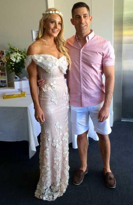 Bachelorette Ali Oetjen with former fiance Dave Waldeck in 2015.