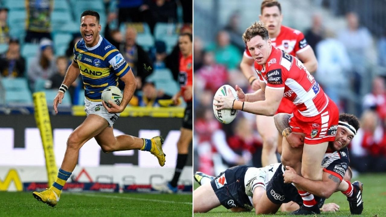 Kurt Mann (right) will join the Knights for the 2019 season, while Corey Norman (left) could move to the Dragons.