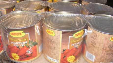 The tomato tins shipment.