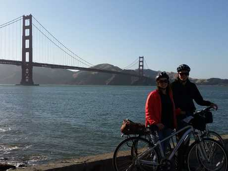 Katie-Anne Salter and her boyfriend Jacob in San Francisco before the accident.