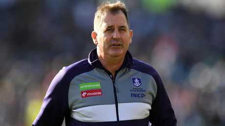 Ross Lyon's team have endured a tough couple of seasons. Pic: AAP