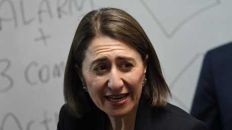 NSW Premier Gladys Berejiklian has proposed halving migration intake. Picture: AAP/Dean Lewins