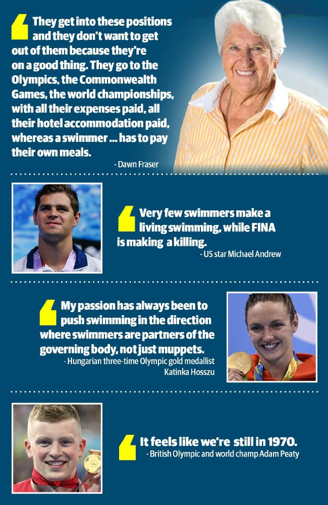 Australian swimmers have their say.