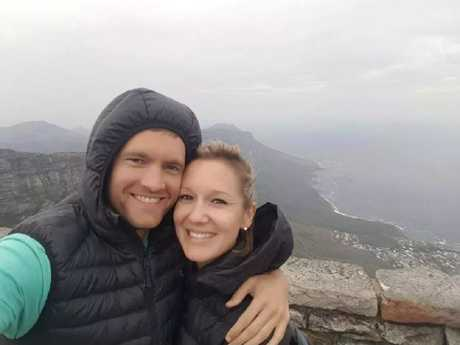 Jolandi le Roux and her husband, Andrew, were celebrating her birthday just before she fell to her death.