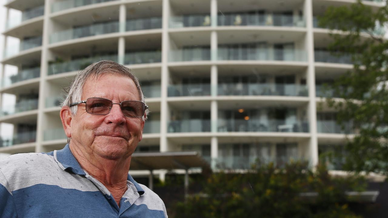 Col Walter has downsized his home to an apartment on McLeod Street in the Cairns CBD. PICTURE: BRENDAN RADKE