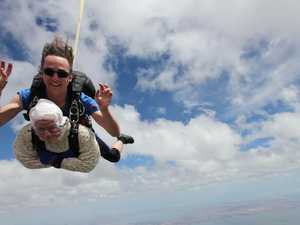 Grandma breaks record with fearless skydive