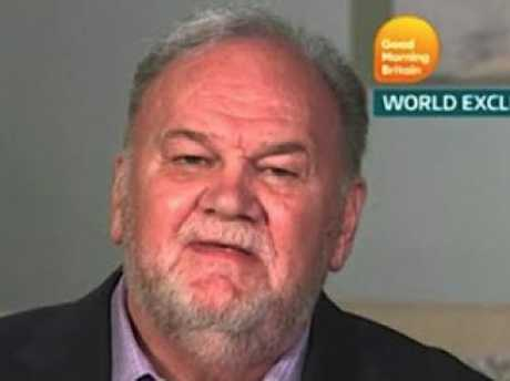 Thomas Markle may be estranged from his daughter but he can't stop speaking about her publicly. Picture: ITV
