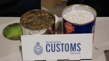The ecstasy pills were hidden in tomato tins.