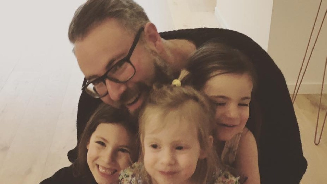 Darren Levin and his three kids don't celebrate Christmas. Picture: supplied