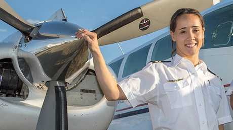 Pilot Nikita Jo Walker died when her plane crashed on Saturday in Tasmania's Southwest National Park. Picture: SUPPLIED