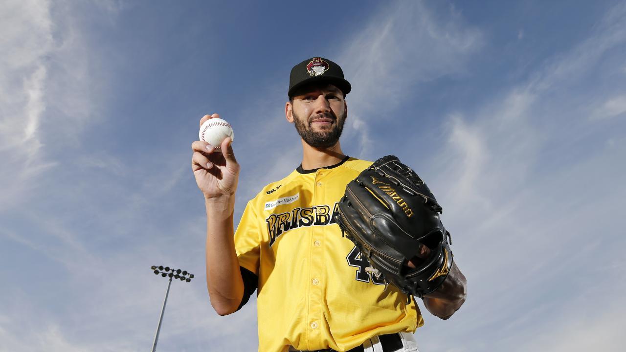 New Brisbane Bandits pitcher Loek van Mil. Picture: AAP Image/Josh Woning