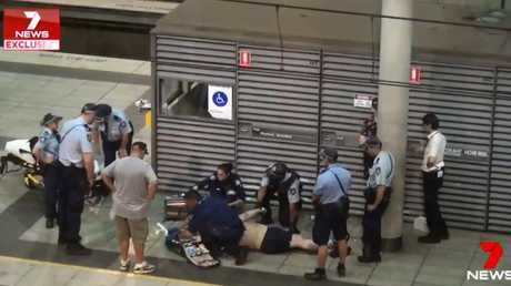 Callum Brosnan collapsed at Knockout Games of Destiny dance party victim. Picture: 7News.