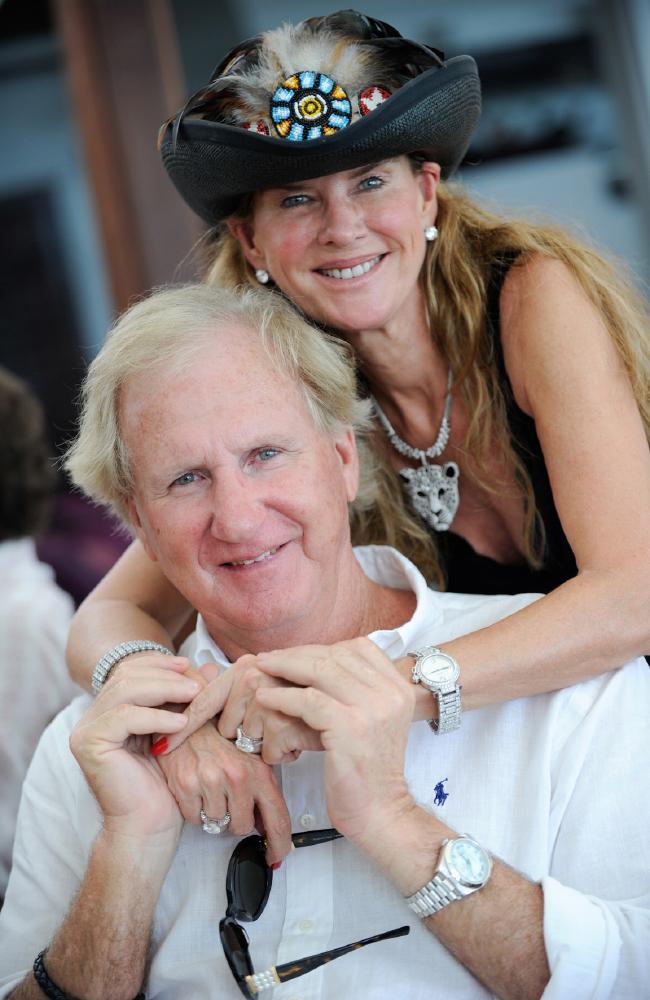 Beef baron Trevor Lee with designer wife Keri Craig Lee