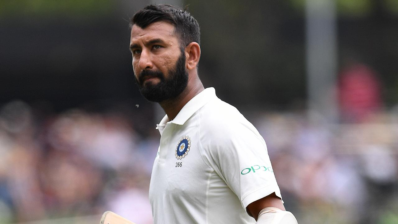 Pujara showed the Aussies how to bat. Picture: AAP