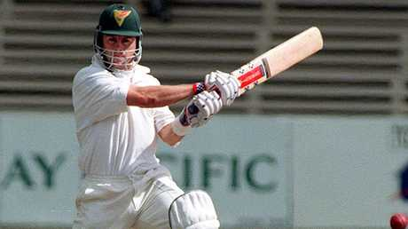 Jamie Cox in action at Bellerive Oval in a 1998 clash between Tasmania and NSW.