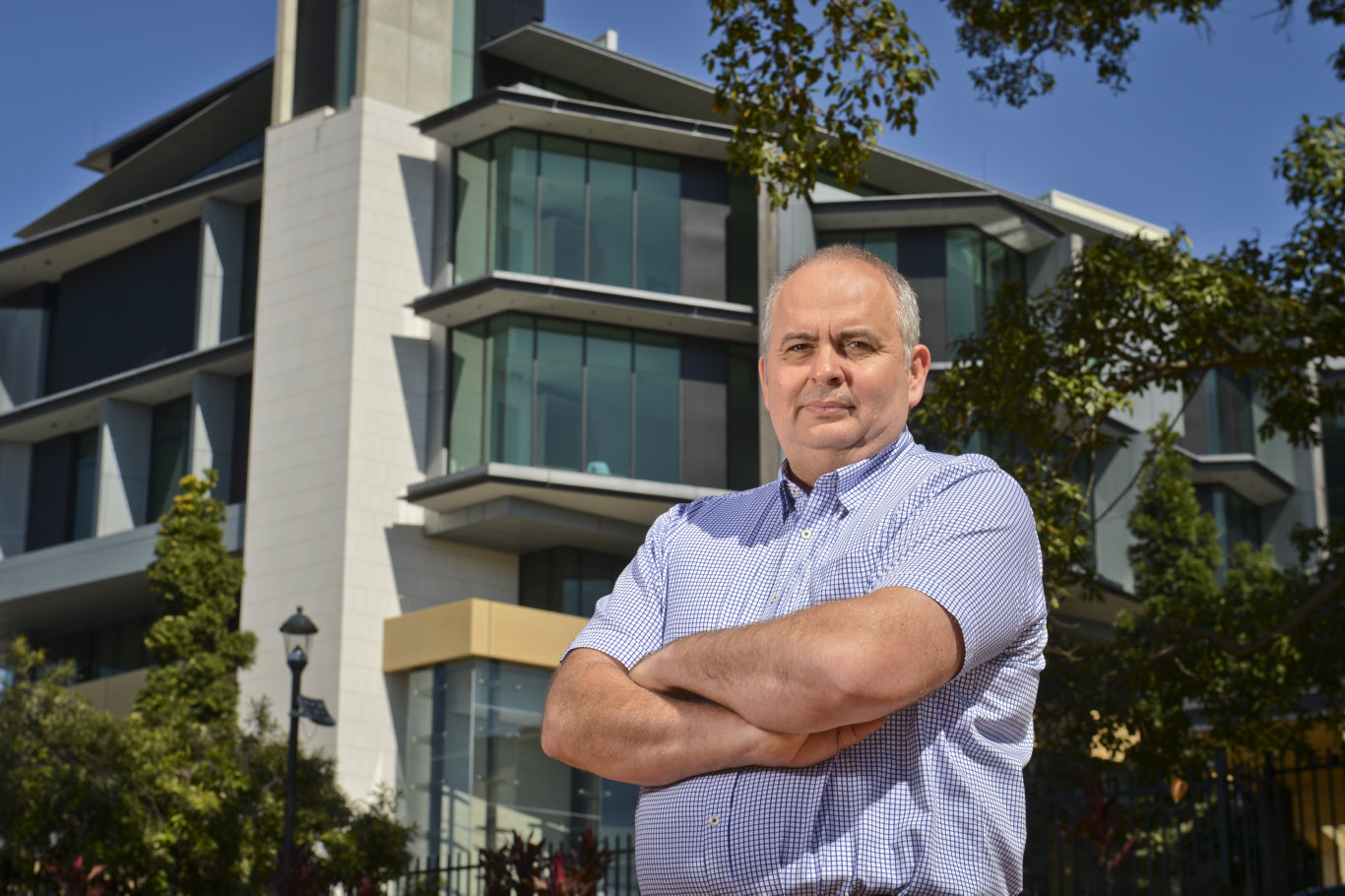 James Long has turned the old TAFE building into Limestone 88, which houses Pumpyard, McNamara and Associates lawyers, Ungerman Brothers, Moore Personal Training and Dovetails restaurant. He's a vocal player on the business scene.of 88 Limestone, James Long says cars from the court are parking illegally in their car park.