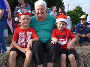 , Jaxon, 6, with gran Wendey Edwards and Jett,5 at