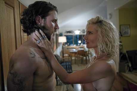 Aaron Jakubenko and Elsa Pataky in a scene from Tidelands.
