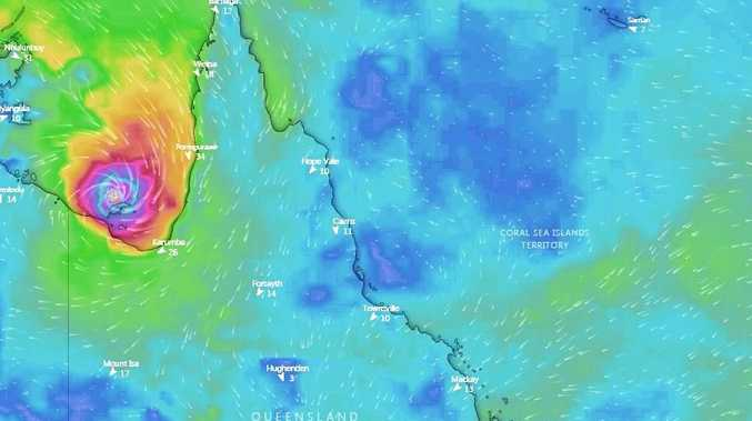 Tropical Cyclone Owen Could Cross Near Townsville