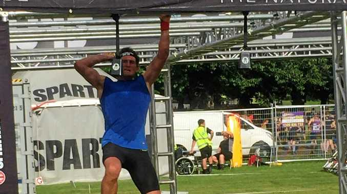 BIG WIN: Lismore athlete Tony Curtis won the final Spartan race of the year in Melbourne.