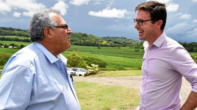 Canegrowers Queensland chairman Paul Schembri and Minister for Agriculture David Littleproud pictured early this year.