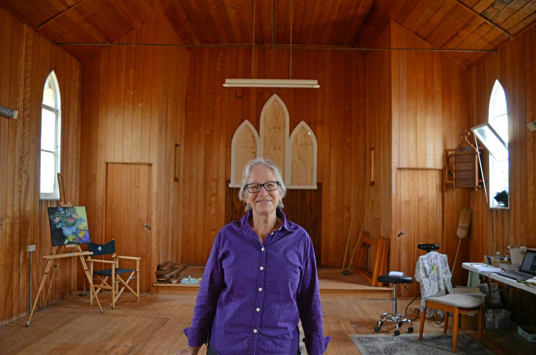 Sue Keong purchased the Freestone St Luke's Anglican Church and has plans to convert it to an artist's retreat.
