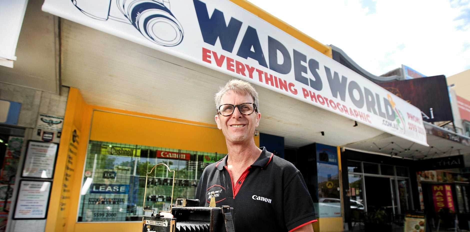 MOVING ON: Wades World owner Wade Kelleher is moving his store to Coolangatta.