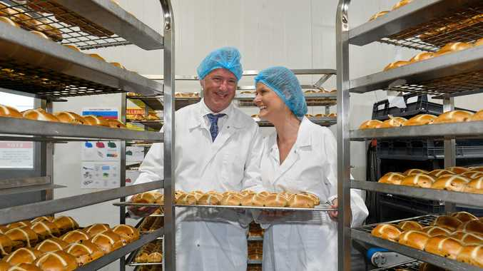 BIG PLANS: Gluten Free Bakehouse owners Colin Pettigrew and Lisa Nevens at their factory in Kunda Park.