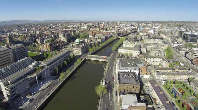 An aerial shot of Dublin.