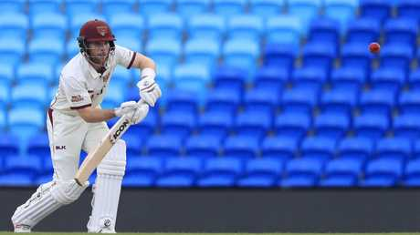 James Peirson watches the ball closely at Bellerive Oval. Picture: AAP