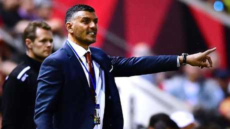 John Aloisi is under pressure with the Roar second-last on the ladder. Picture: Getty Images
