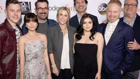 Sarah Hyland with her Modern Family castmates. Picture: ABC
