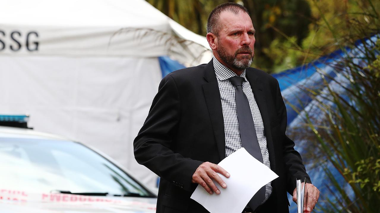 Detective Inspector Scott Beard has warned the public about naming the alleged killer. Picture: Hannah Peters/Getty Images