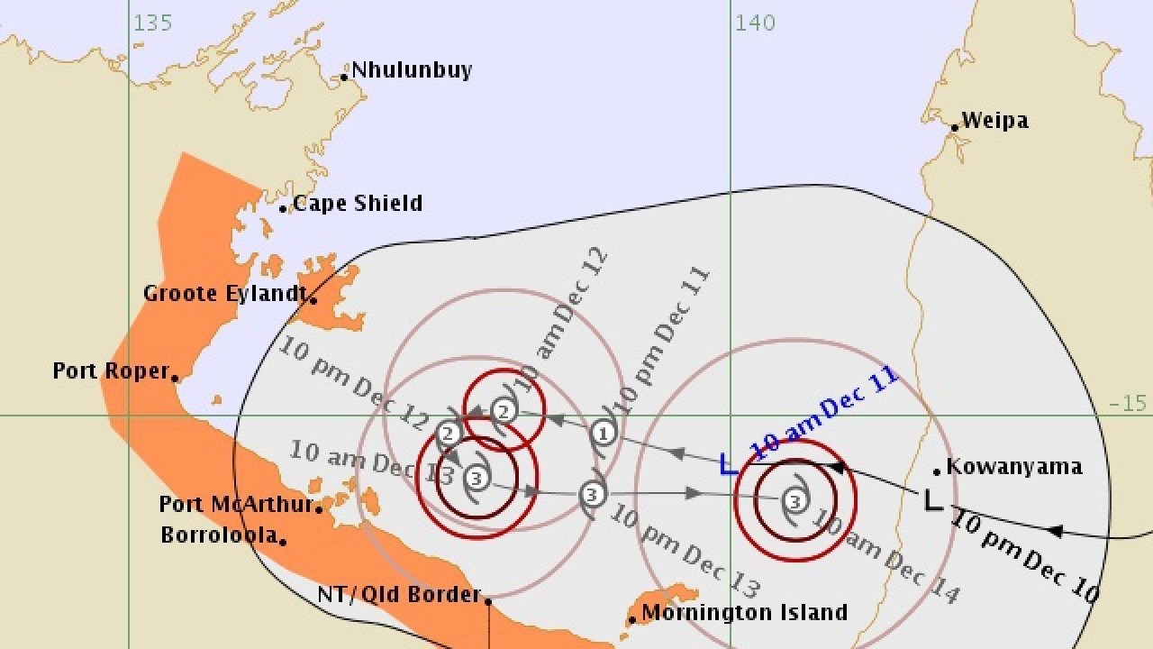 Ex-tropical cyclone Owen is tipped to re-intensify.
