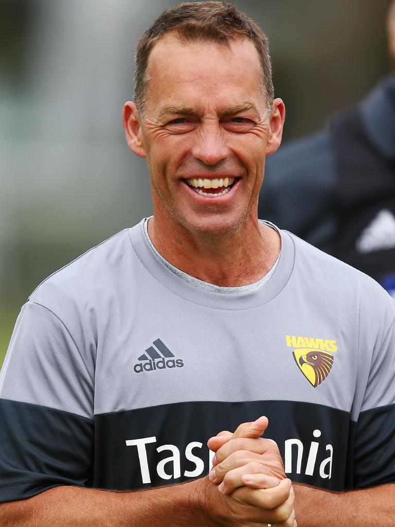 Clarkson at Hawthorn training earlier this month. Pic: Getty Images