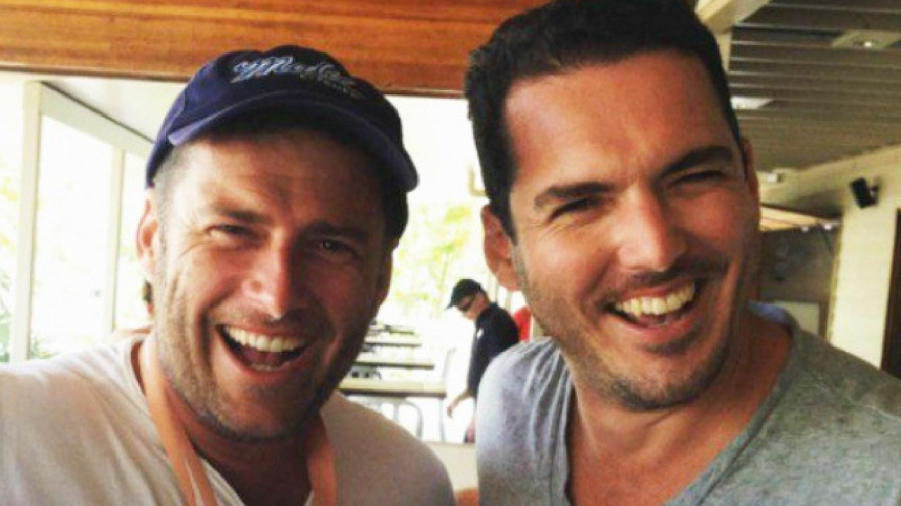 Karl Stefanovic and his brother, Peter Stefanovic. Picture: Instagram