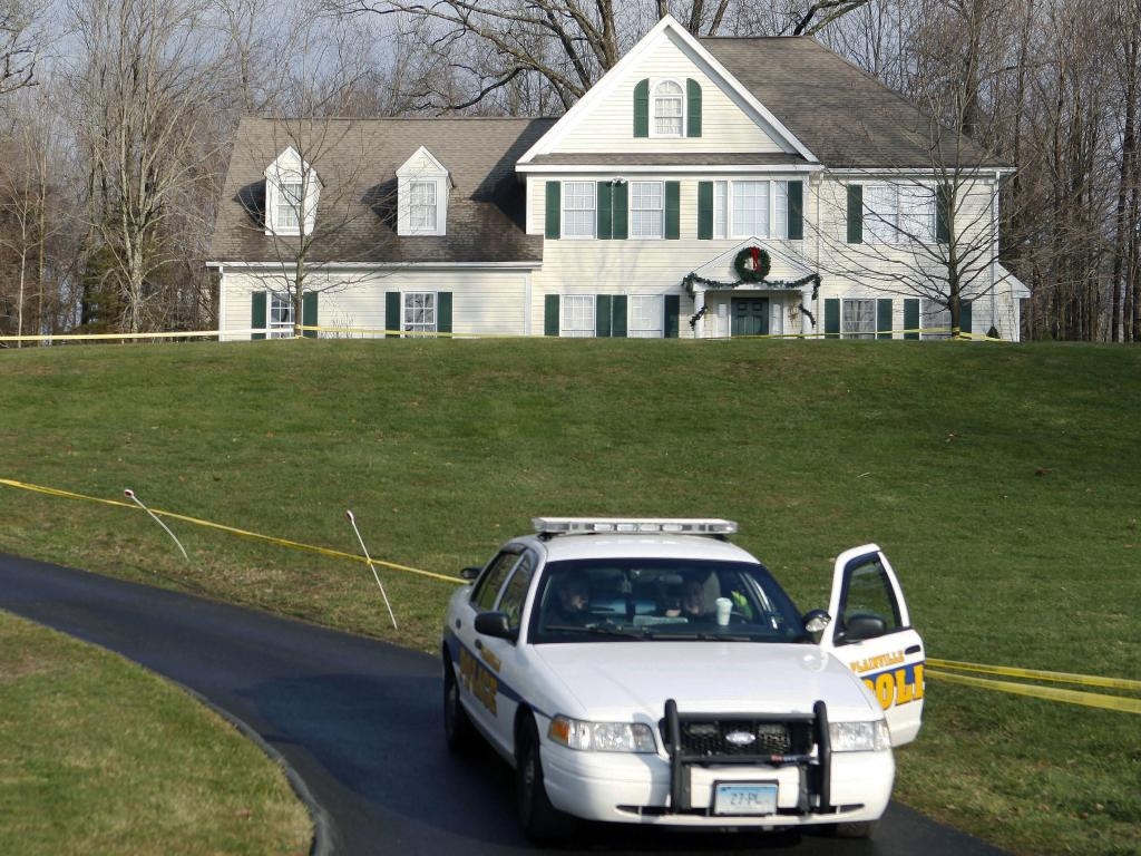 The house where Adam Lanza lived with his mother, Nancy. Picture: AP