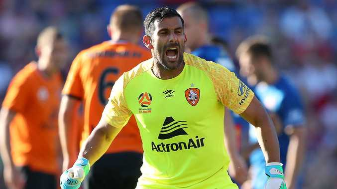 Roar goalkeeper Jamie Young has put his support behind coach John Aloisi. Picture: Getty Images