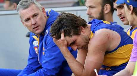 Andrew Gaff copped a heavy suspension for his hit on Andrew Brayshaw. Picture: Getty Images