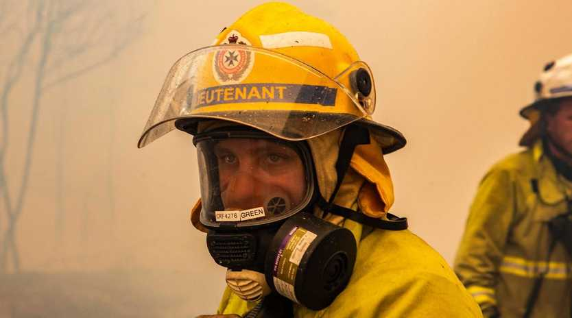 Premier Annastacia Palaszczuk wants telcos to be compelled to provide emergency alert text messahes for free as a community service. Picture: QFES Media