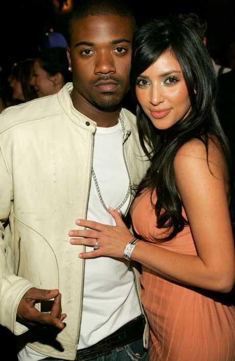 Kim Kardashian and ex-boyfriend Ray J. Picture: John Shearer/WireImage